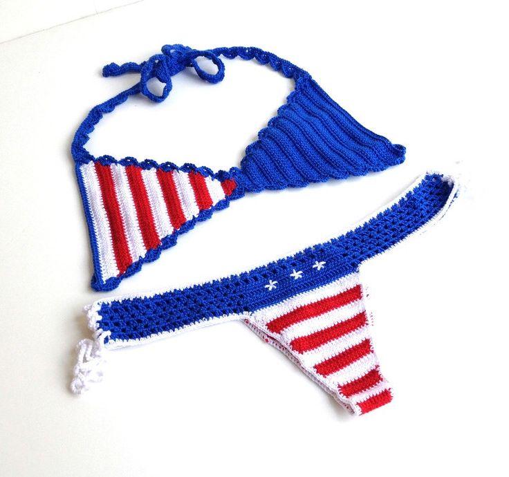 American flag bikini women swimsuit bikini top bikini bottom brazilian bikini bottom patriotic bikini stars and stripes senoAccessory by senoAccessory on Etsy https://www.etsy.com/listing/190968077/american-flag-bikini-women-swimsuit