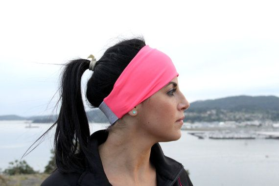 FitHappy Ladies Classic Exercise Headband in WATERMELON, Perfect Width, Stylish Workout accessory, Crossfit, Yoga, hair wrap on Etsy, Sold