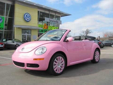 Volkswagen New Beetle I think they at ugly but I would try to drive it cause it was pink
