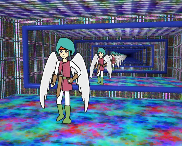 Infinity Mirror Room / Angel Hero / #SXGA #Boy