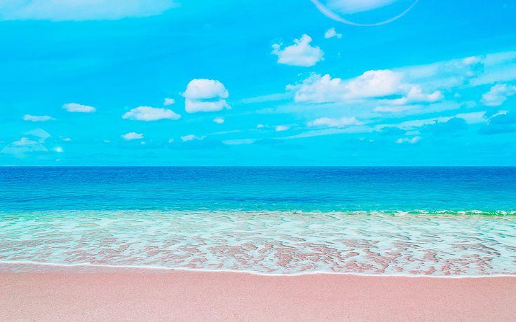 Der pinke Strand von Budelli, La Maddalena Archipel, Sardinien