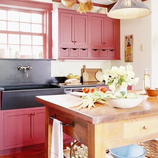Country Kitchens Cabinets: 53 Best Red Country Kitchen Images On Pinterest