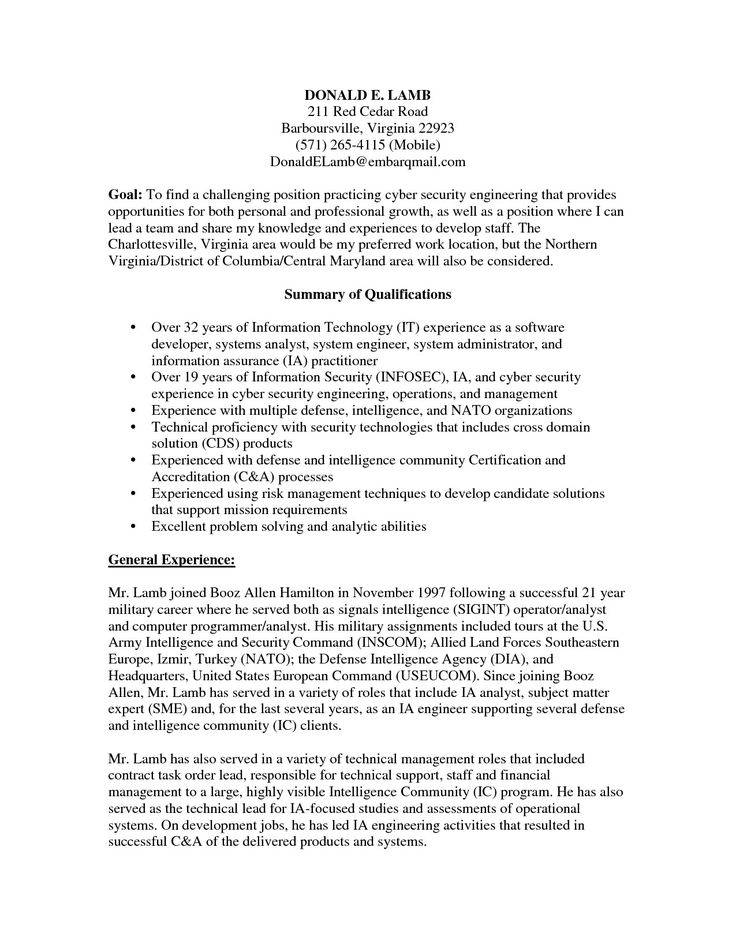 Information Security Analyst Resume 8 9 Information