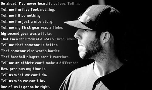 Dustin Pedroia....love what he says here!!