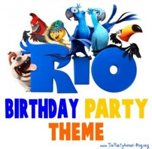 Rio Birthday Party Theme Blog with craft and favor ideas