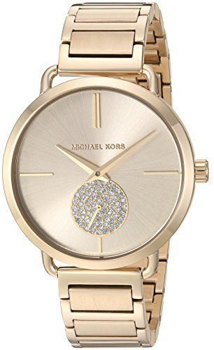 6b1693b6f65c Michael Kors Watches Collection 2018   2019   Michael Kors Womens Portia  GoldTone Watch MK3639 Click on the image for addit