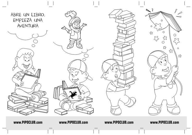 Punto de lectura de Pipo #colorear #actividades #Pipo #libros #leer #lectura
