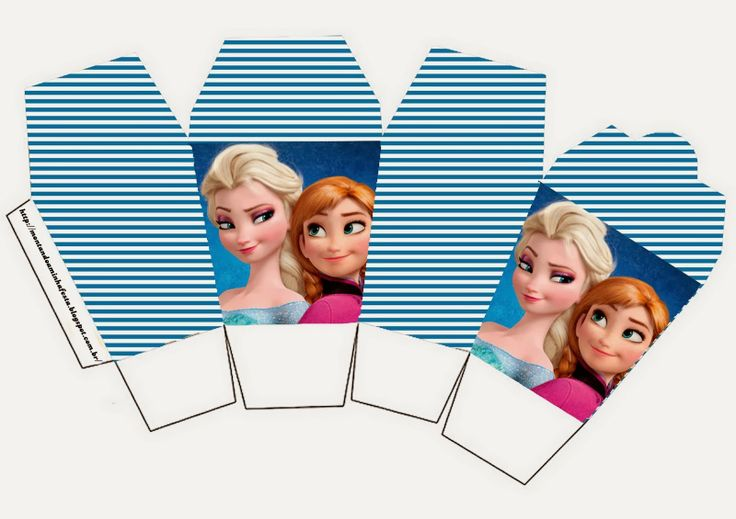 Free Printable Frozen chinese take out Party Boxes.