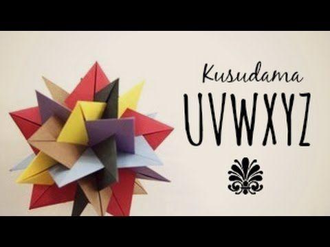 #35 Kusudama spiral by Ирина Krivyakina - Yakomoga Origami tutorial - YouTube