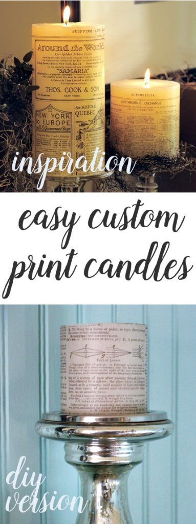 Easy DIY Print Candles - The Shabby Creek Cottage