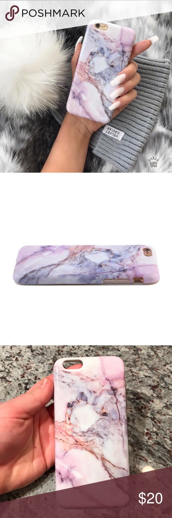 Velvet Caviar Marble iPhone case Velvet Caviar Violet Sky Marble iPhone case for iPhone 6 or iPhone 6s in great condition! Only used for a few weeks then I upgraded my phone so I can't use it anymore Accessories Phone Cases