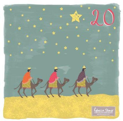 Day 20 - Three Kings by Rebecca Stoner www.rebeccastoner.co.uk