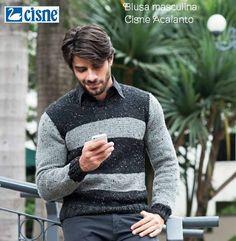 Receita de Tricô: Blusa masculina em tricô