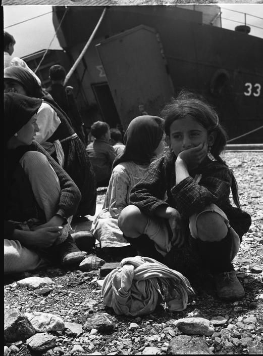 Greece 1948. David Seymour Evacuation of children from the civil war areas.