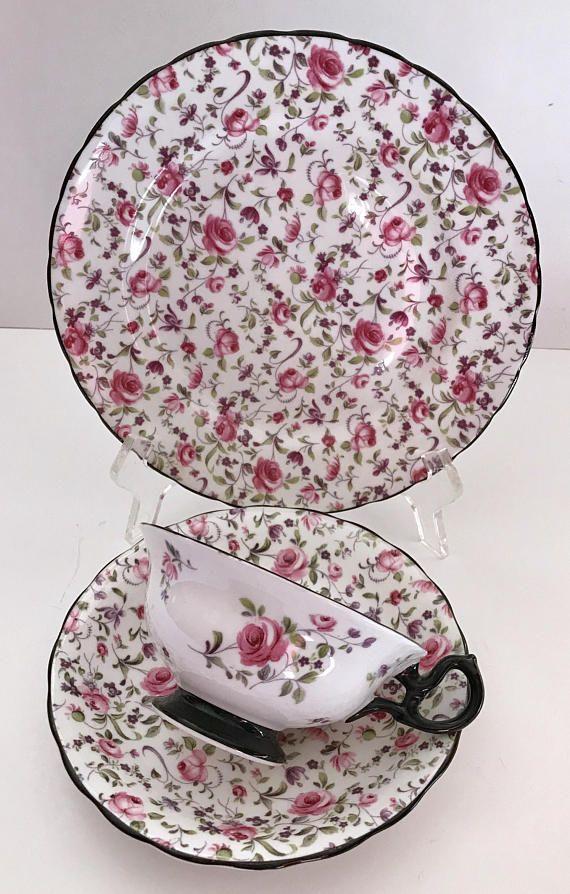 En porcelaine anglaise de collection avec d/é Chintz Violets