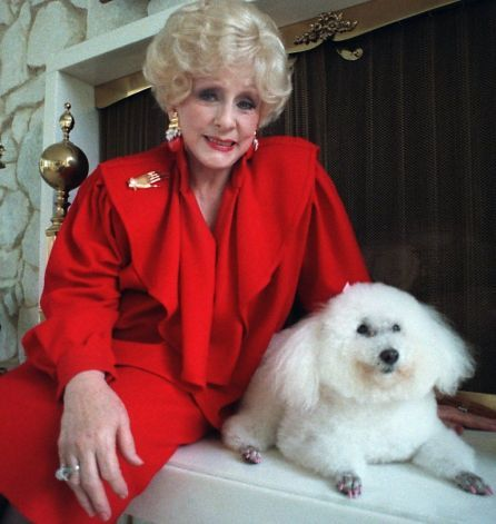 mary kay ash home   Mary Kay Ash poses with her poodle 'Gigi' in her Dallas home in this ...