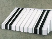 Aluminium construction and Polyurethane paint ensures long term durability and has interesting colour stripe effects.