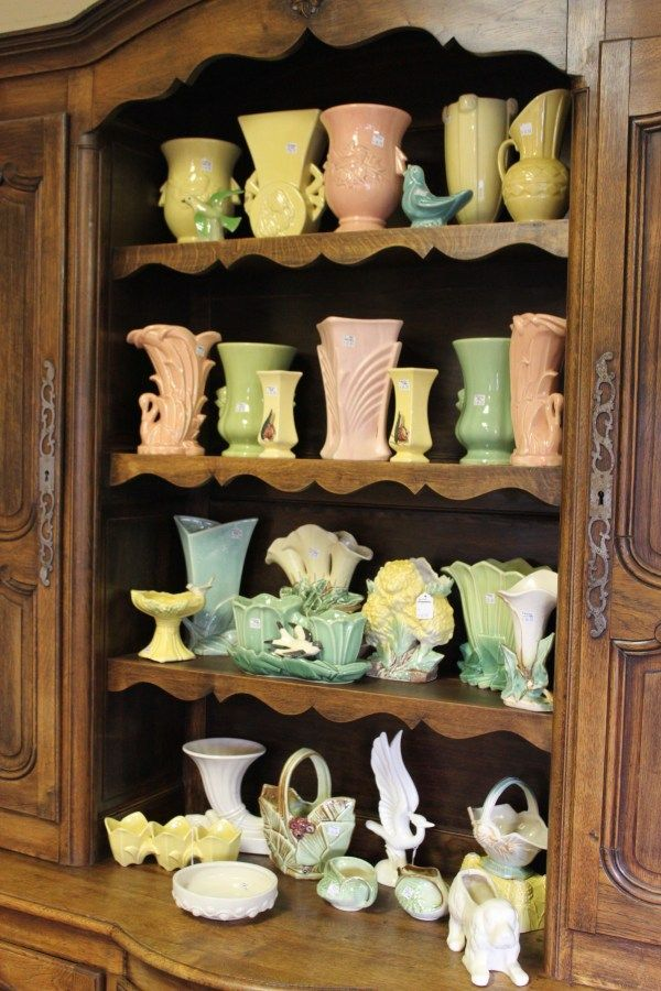 I collect McCoy pottery - thanks to Martha Stewart.  However I collect mostly all white McCoy.