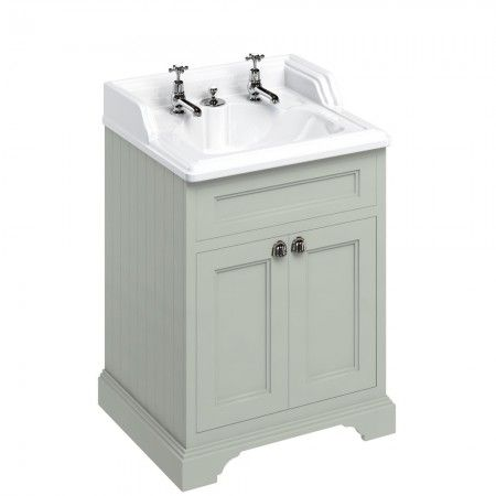 Burlington 65cm Vanity Unit with Doors and Classic Basin for Invisible  Waste   Dark Olive. 1000  images about Soakology Furniture on Pinterest   Corner