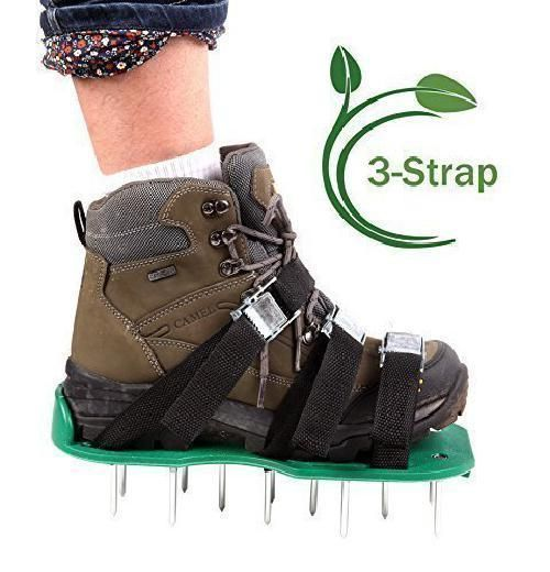 Lawn Aerator Spike Shoes, Aerating Lawn Soil Sandals with Metal Buckles Grip NEW #AeratorSpikeShoes