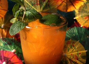 Just like the Original Mai Tai by Trader Vic Bergeron Jr., authentic and the real deal.  •2 ounces aged rum   •3/4 ounce freshly squeezed lime juice, juiced lime half reserved   •1/2 ounce orange curaçao   •1/4 ounce Rich Simple Syrup, also known as rock candy syrup   •1/4 ounce orgeat   •1 cup crushed ice   •1 mint sprig, for garnish