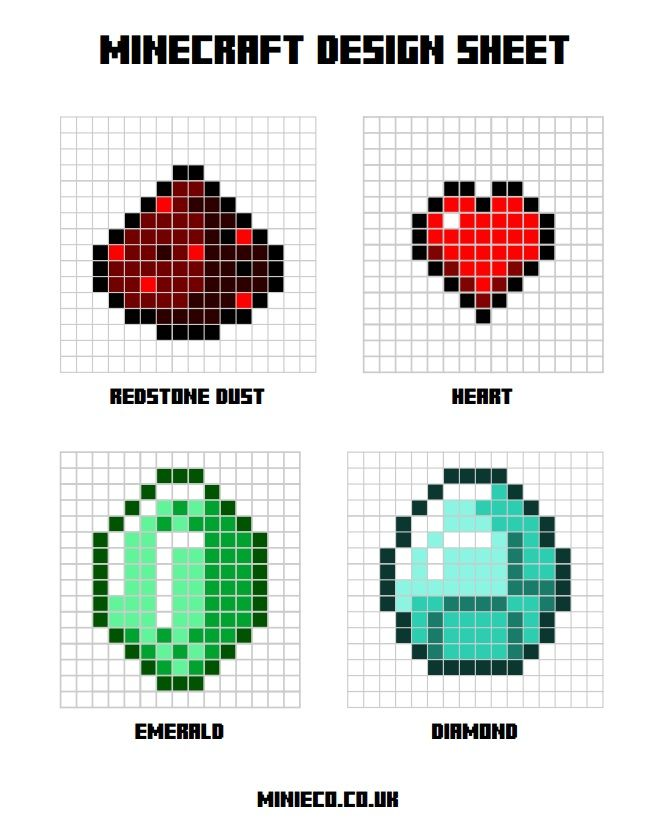 Minecraft designs for HAMA beads