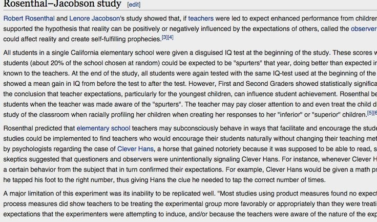 Pygmalion effect - Wikipedia, the free encyclopedia