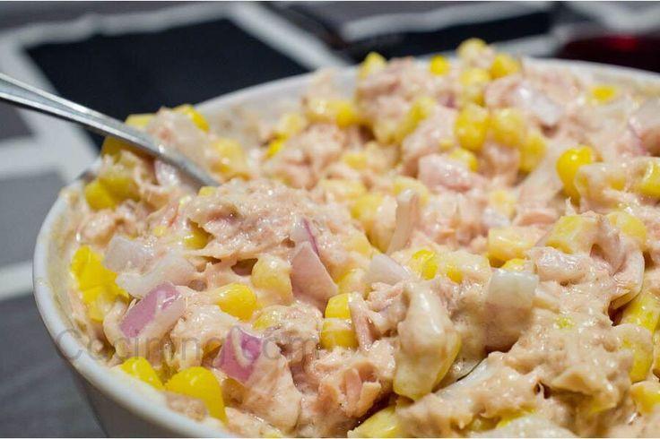 Atún, cebolla morada, mayonesa, elote. | Ensaladas | Pinterest