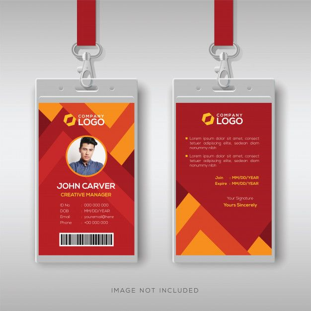 Id Card Template Id Card Template Business Card Design Creative Colorful Business Card