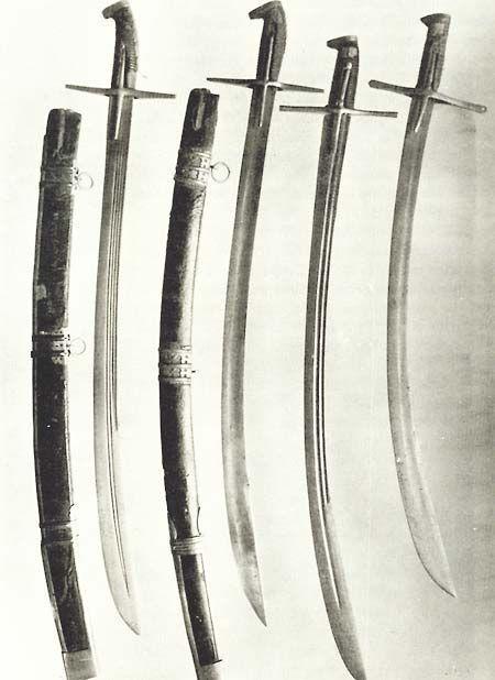 Hungarian-Polish style sabres, ca. 1600 AD.