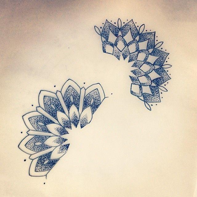 Couple of mini half mandalas for a wrist tattoo tomorrow. Looking forward to…