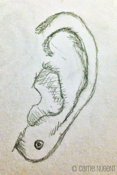 How to Draw - sketching the ear