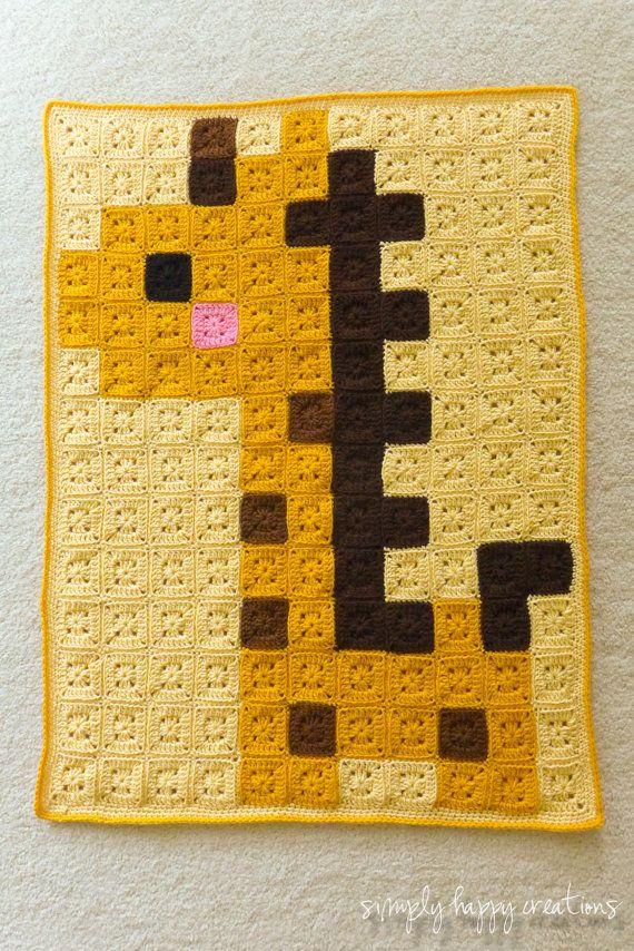 Ready to ShipCrochet 8-Bit Pixel Art Baby by simplyhappycreations