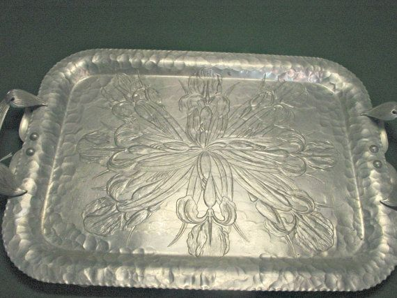 Aluminum Decorative Tray 267 Best Metal Trays Images On Pinterest  Metal Trays Trays And