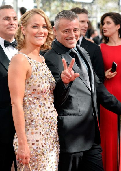 #emmyfashion Actor Matt LeBlanc (R) and Andrea Anders arrive at the 65th Annual Primetime Emmy Awards held at Nokia Theatre L.A. Live on September 22, 2013 in Los Angeles, California.