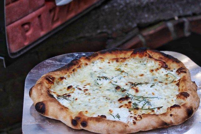 Rosemary Thyme Ricotta Pizza!