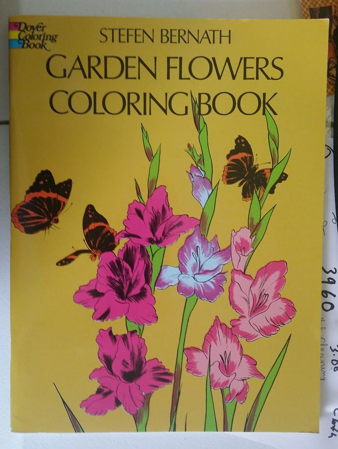 Garden Flowers Coloring Book Nature Illustrations From 1975