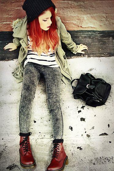 Pants, Clothing Loves Striped Tee, Wildpair Docs, Yesstyle Backpack