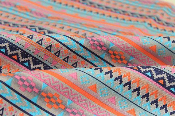 Canvas katoen stof Boho tribal abstracte patroon door meter