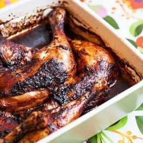 Marinerade kycklingklubbor med passionsfruktssalsa - Recept - Tasteline.com