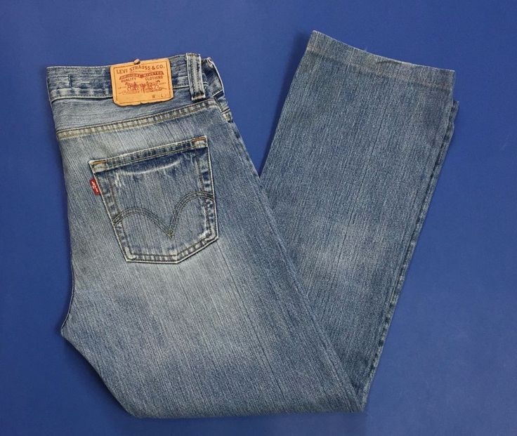 Levis 506 W34 tg 48 standard fit jeans uomo usato straight gamba dritta T2776