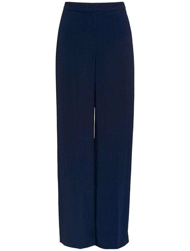 Pantaloni palazzo, blu - LAICISMO PennyBlack