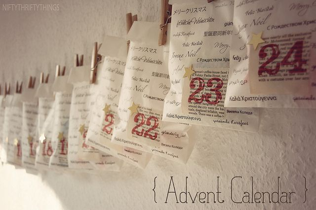 Diy Old Calendar : Diy advent calendar print numbers on old book pages and