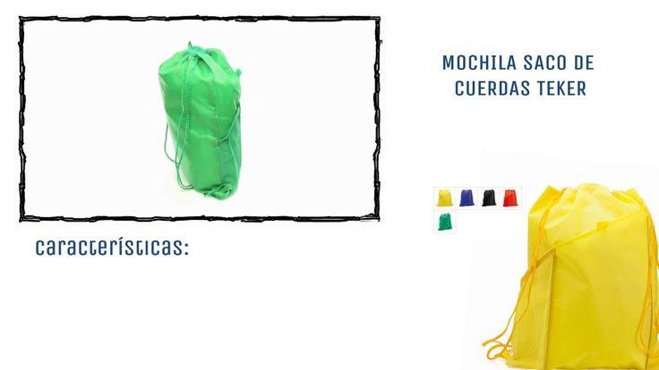 Mochilas tipo saco de cuerdas personalizadas modelo Teker. Mochilas saco de cuerdas | Videos | Publipromo