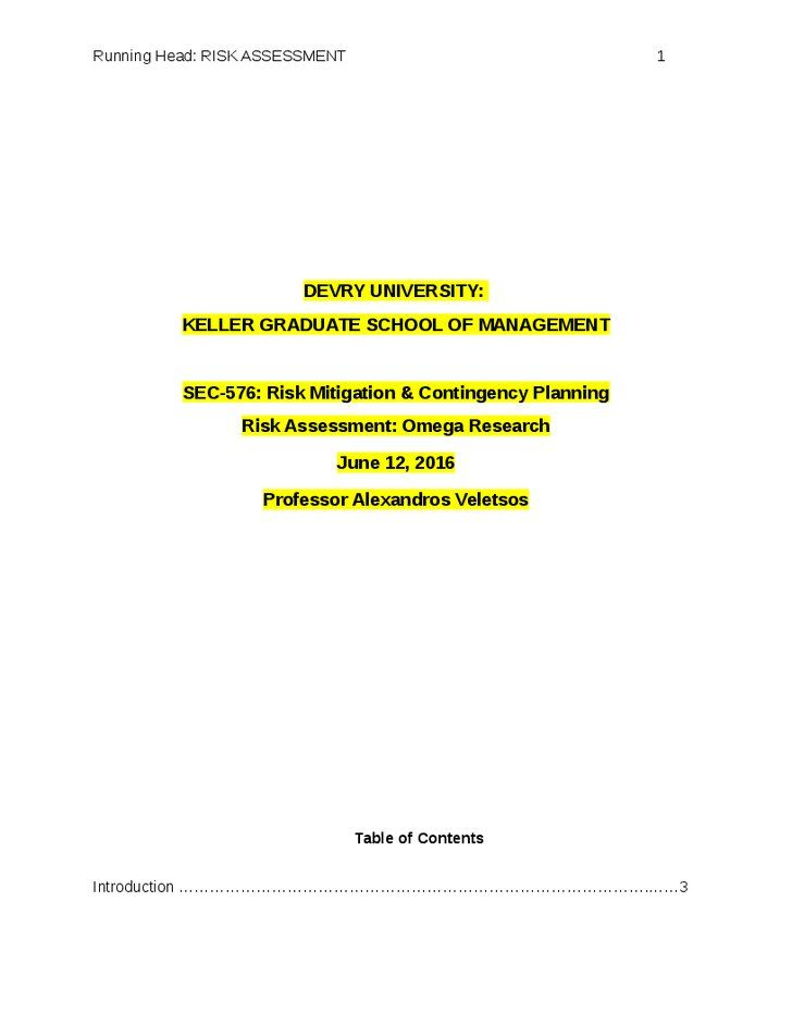 17 best SEC 576 - Risk Mitigation \ Contingency Planning images on - contingency plan examples