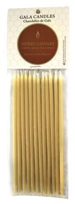 Beeswax - 6 inch Gala Candles -Natural - a beeswax candle for when an ordinary candle isn't good enough for your gala event! 12 natural beeswax candles per pack.