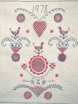 broderi/刺繍 - 北欧・スウェーデンのダーラナ地方からアンティークと ...