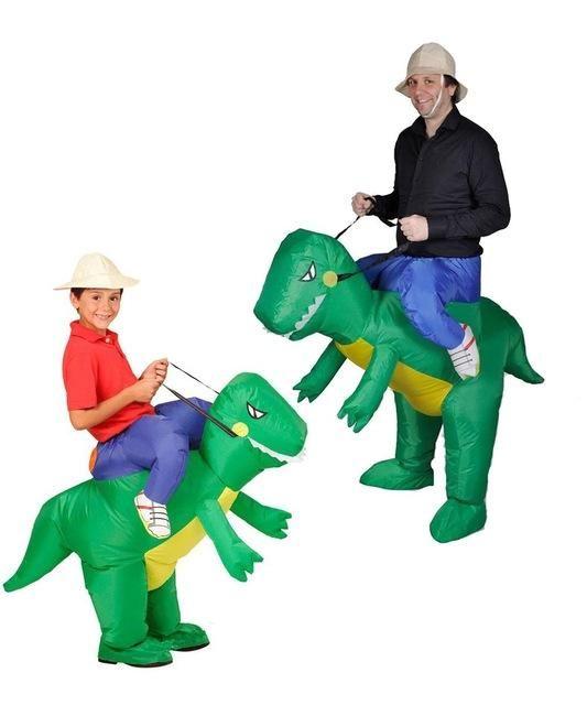 Cosplay inflatable dinosaur costume - fan operation adult child size Halloween animal costume