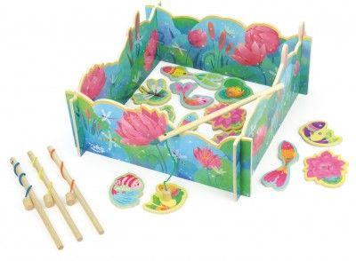 Vilac drevená motorická hra rybárčenie Lily