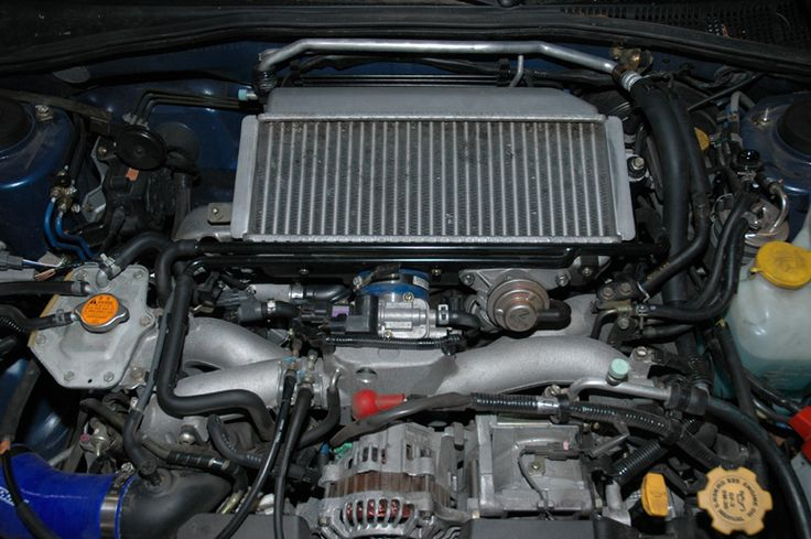 This is the stock WRX engine with the stock intercooler on top. #Subaru #subaruidiots #WRX #STi #Turbo #Impreza #Boost #Enthusiast #Subarulove